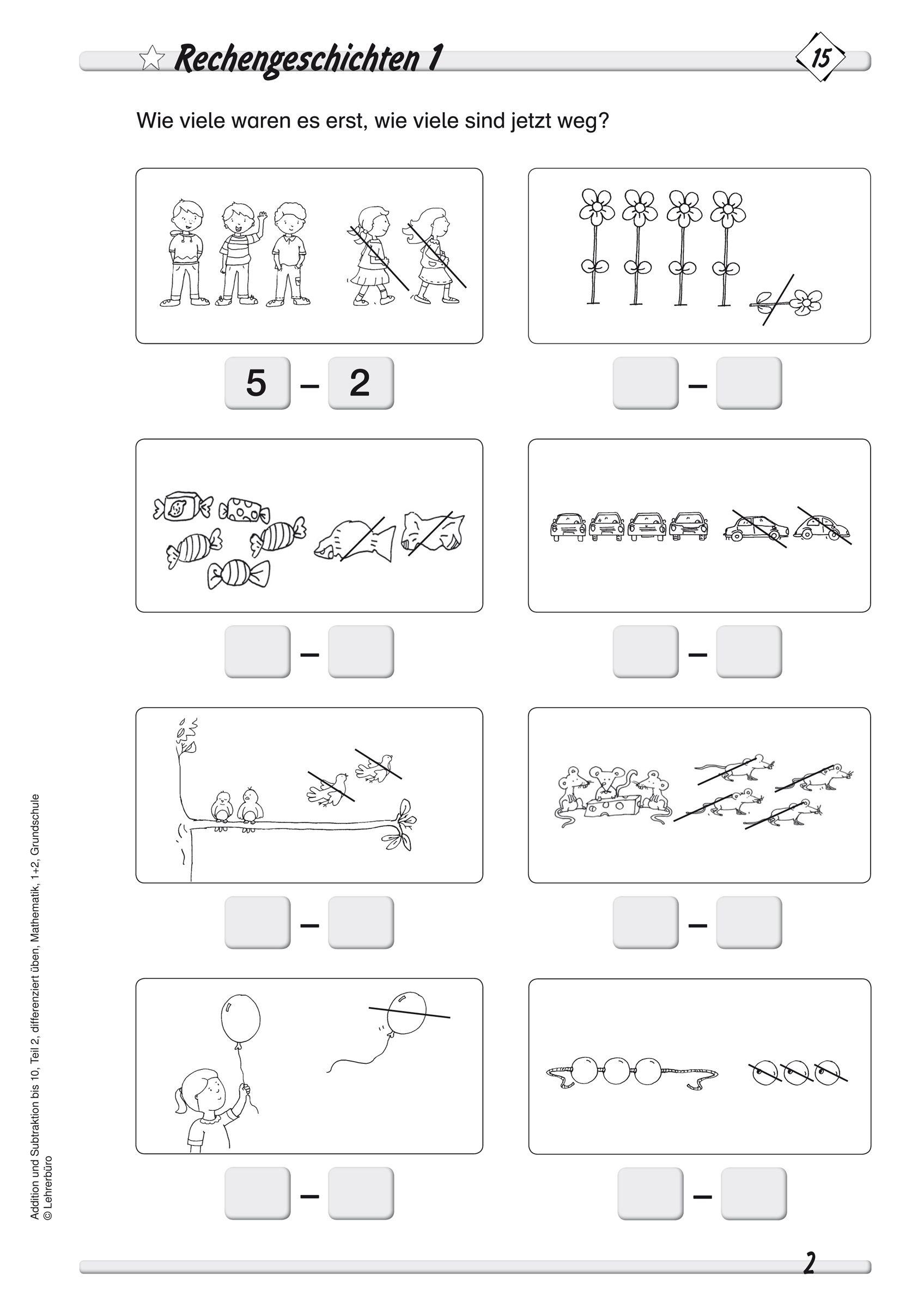 Addition Und Subtraktion Bis 10 Teil 2 Differenziert Ueben