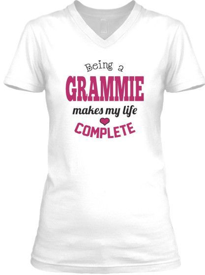 Being a Grammie Makes My Life Complete V-Neck T-Shirt