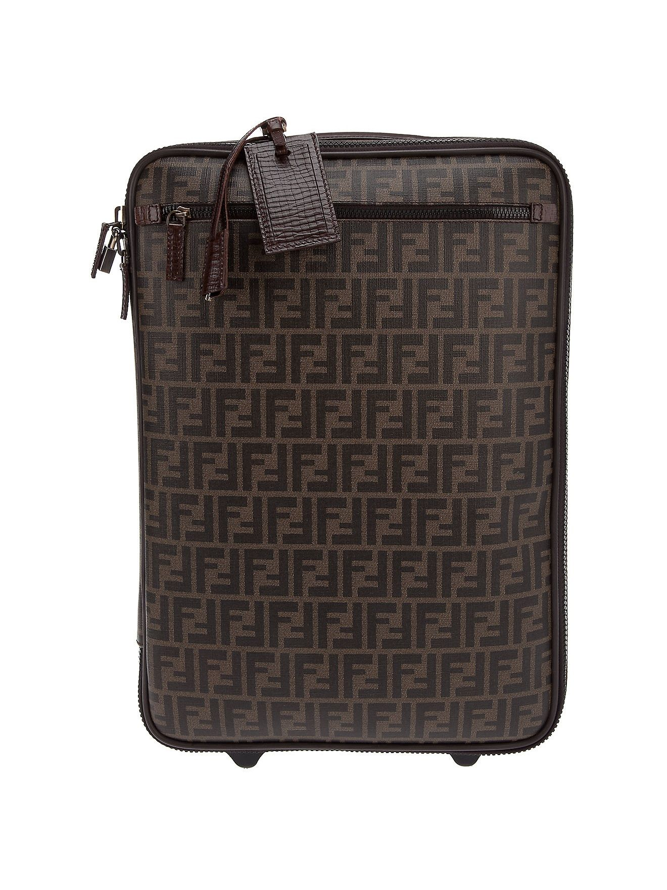 c846a37a0774b0 Fendi Monogrammed Suitcase in Brown | Lyst | Bon voyage | Fendi ...