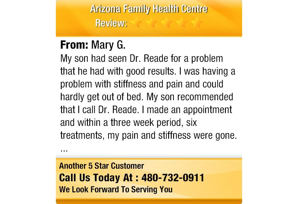 My son had seen Dr. Reade for a problem that he had with good results.  I was having a...