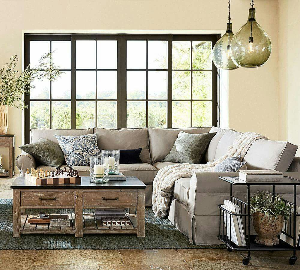 Pin By Nancy Palma On Home Improvements And Decor Farmhouse Style Living Room Decor Pottery Barn Living Room Farmhouse Style Living Room