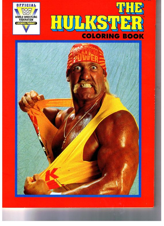 1991 Wwf Hulk Hogan Unused Coloring Book Wwf Coloring Books Hulk Hogan