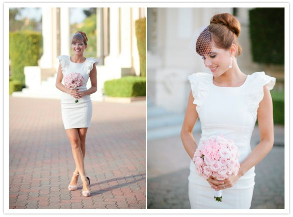 20 of the Most Stunning Brides Who Rock Short Wedding Dress ...