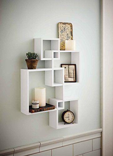 Attirant Generic Intersecting Squares Wall Shelf   Decorative Display Overlapping  Floating Shelf   Home Decor Wall Art   Interlocking Shelves/Wall Cubes/ Storage ...