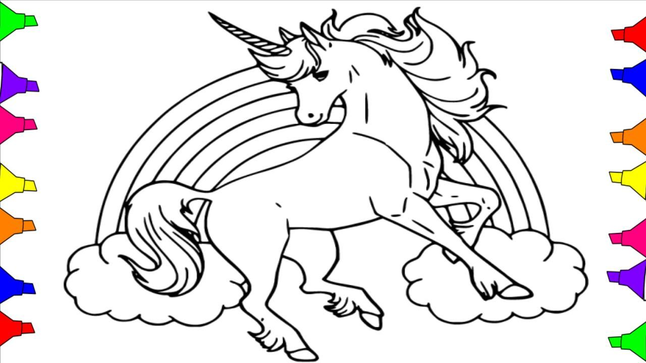 How To Draw A Unicorn Coloring Pages For Kids Toddlers L Step By Step Drawing Pages For P Unicorn Coloring Pages Mandala Coloring Pages Unicorn Coloring Page