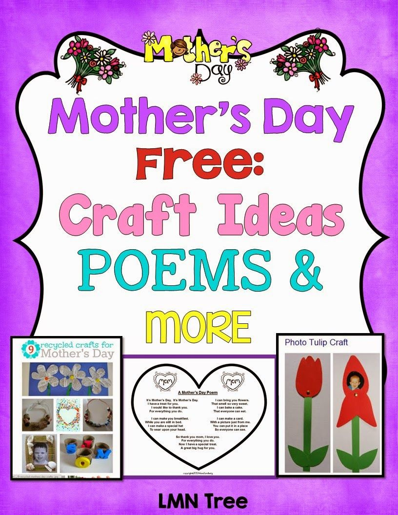 lmn tree mother 39 s day free poems craft ideas and more for pre k through 1st grade new. Black Bedroom Furniture Sets. Home Design Ideas