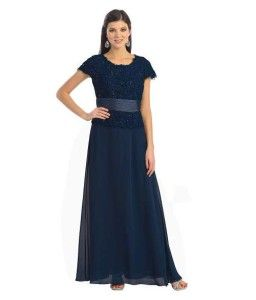 f13b067d1d Short sleeve plus size navy blue mother of the bride dresses for spring
