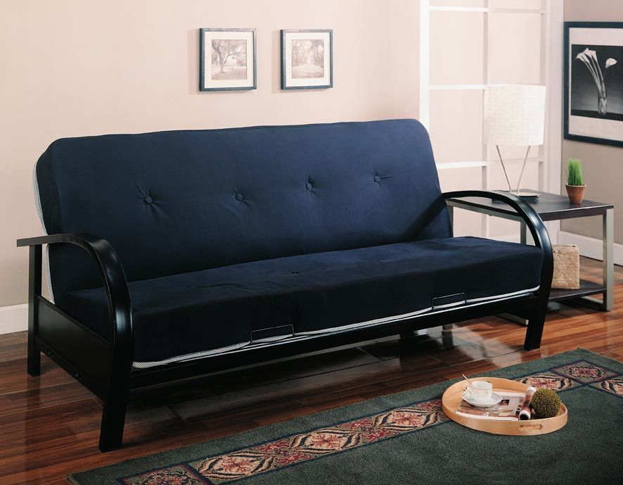 I Found A Black Futon Frame And Mattress Collection At Big Lots For Less Find More Furniture At Biglots Com Futon Frame Futon Living Room Black Futon