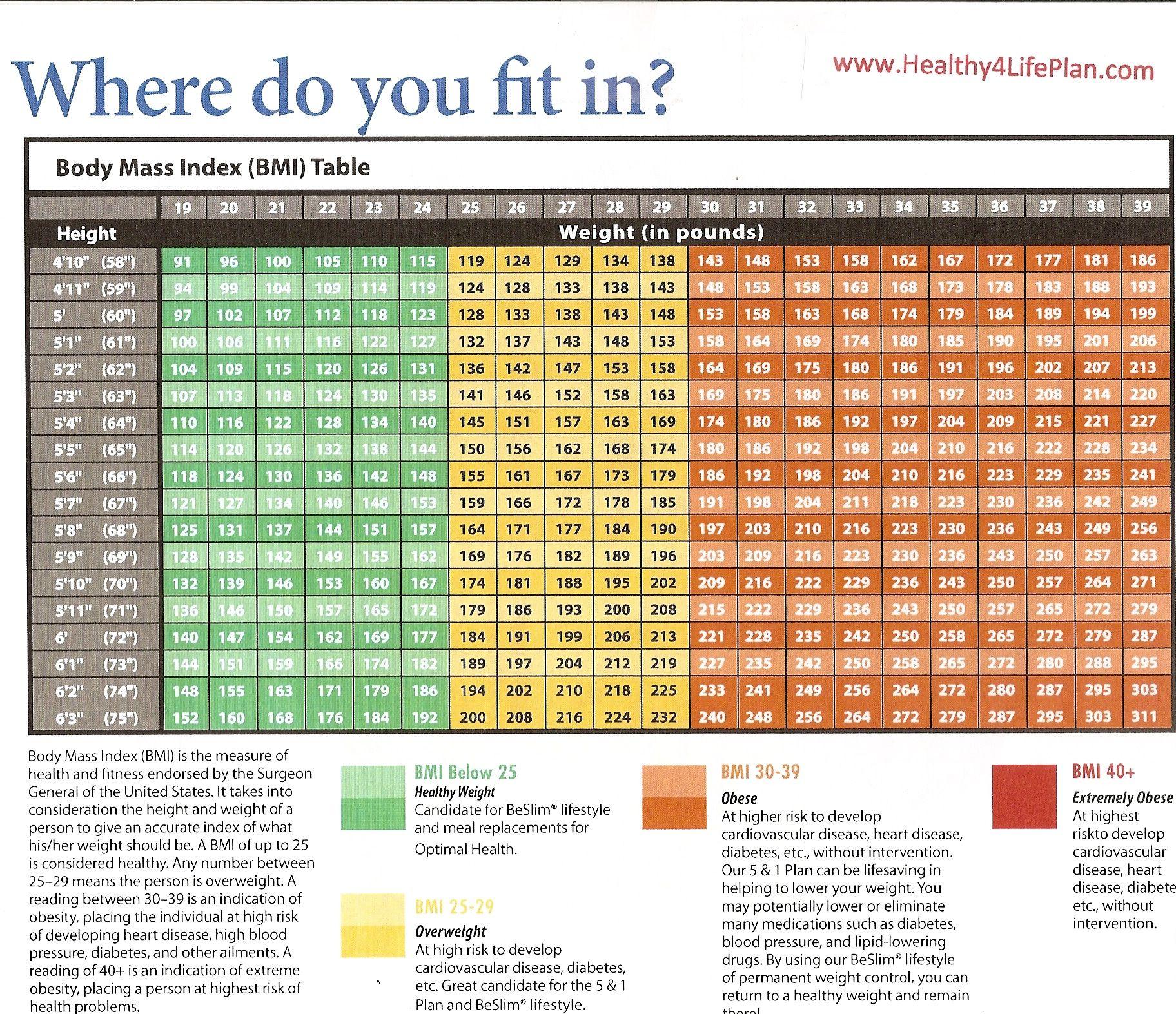 Optimal bmi Adult BMI