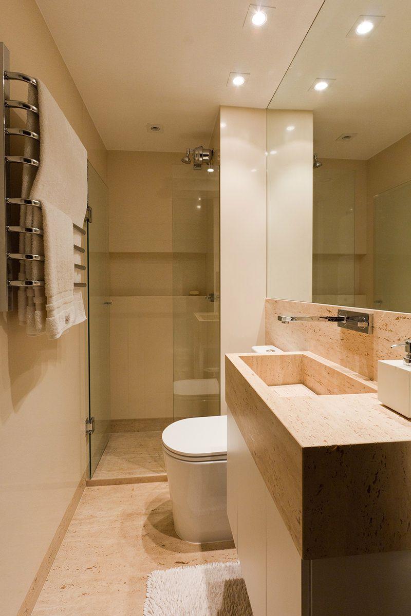 30 banheiros pequenos decorados para você se inspirar  Bathroom laundry -> Banheiro Apartamento Decorado Adesivo