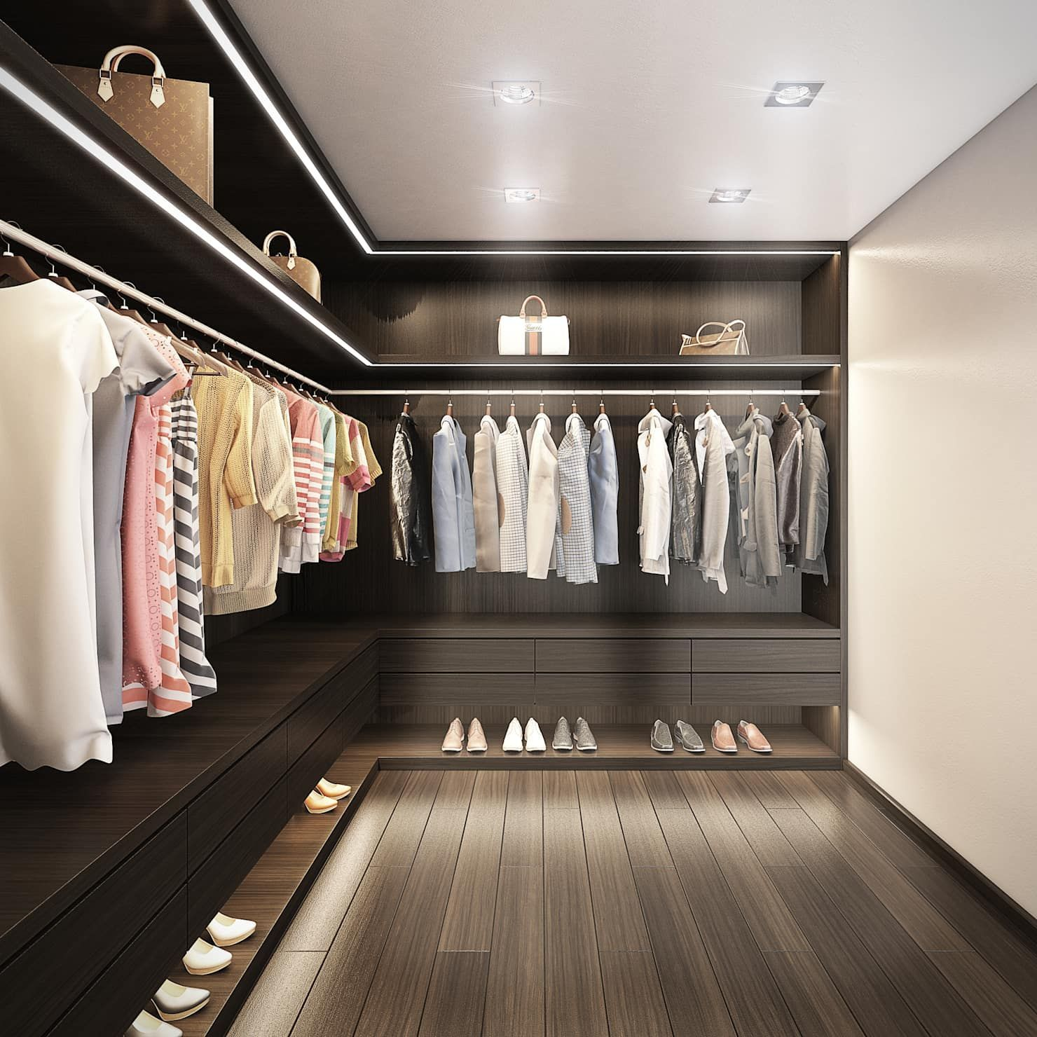 Villa De Lujo Marbella Club Vestidores De Estilo Minimalista De Dika Estudio Wardrobe Room Closet Designs Dressing Room Closet