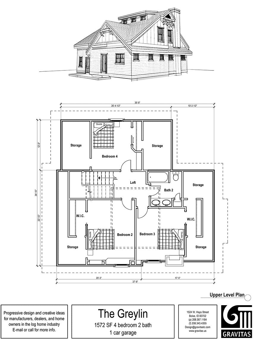 2 bedroom loft  House Plans with Porches  More Cottage house ideas