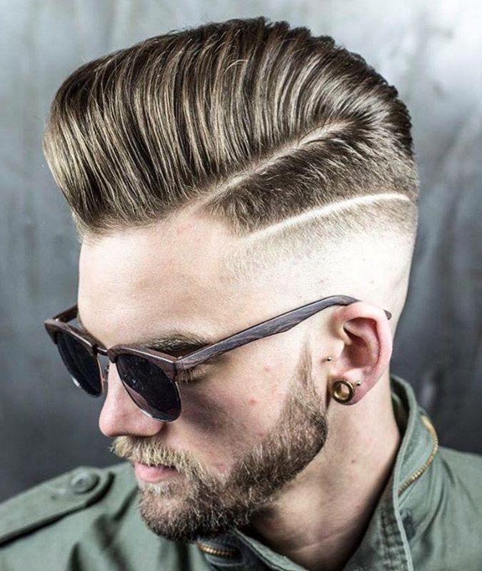 Double Hard Part Hard Part Haircut Mens Hairstyles Long Hair Styles Men
