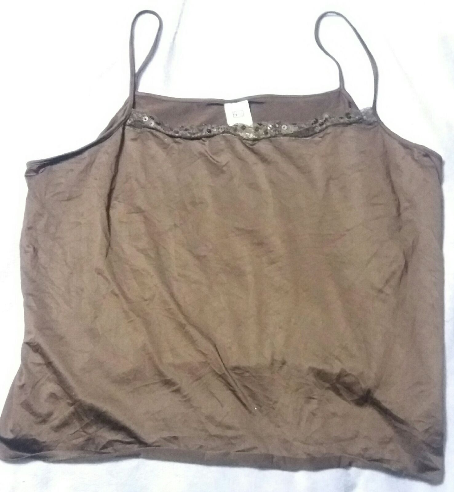 NEW Faded Glory Plus Size Brown w/lace 26/28 26 28 4x Tank Cami Top Shirt Short Sleeves Free Ship  NEW.  Didn't fit.  Don't remember if I washed it after untagging it or not ...   https://nemb.ly/p/VkeEpAKj_ Happily published via Nembol