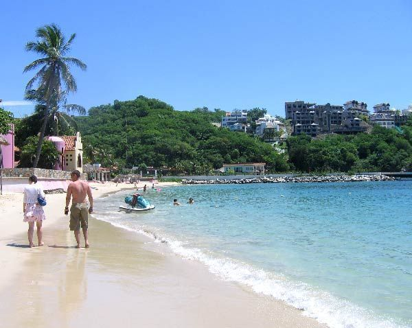 Huatulco Or Las Bahias De Is A Beach Resort Area Located On The