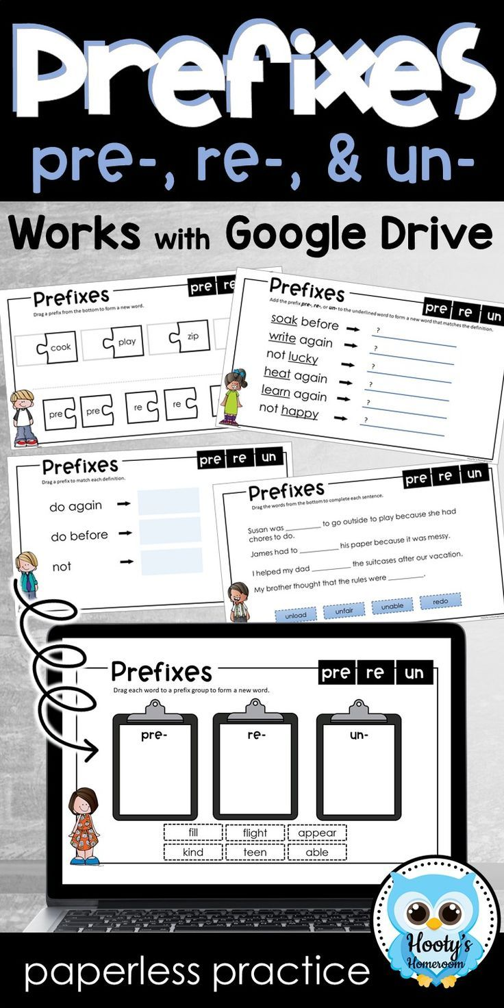 Prefixes Paperless Practice PRE, RE, UN (With images