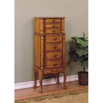 Alcott Hill Barwood Jewelry Armoire with Mirror