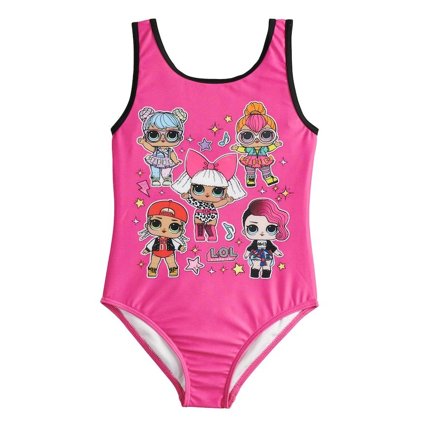 fccf776938 Girls 5-8 L.O.L. Surprise! One-Piece Swimsuit, Girl's, Size: 5-6 ...