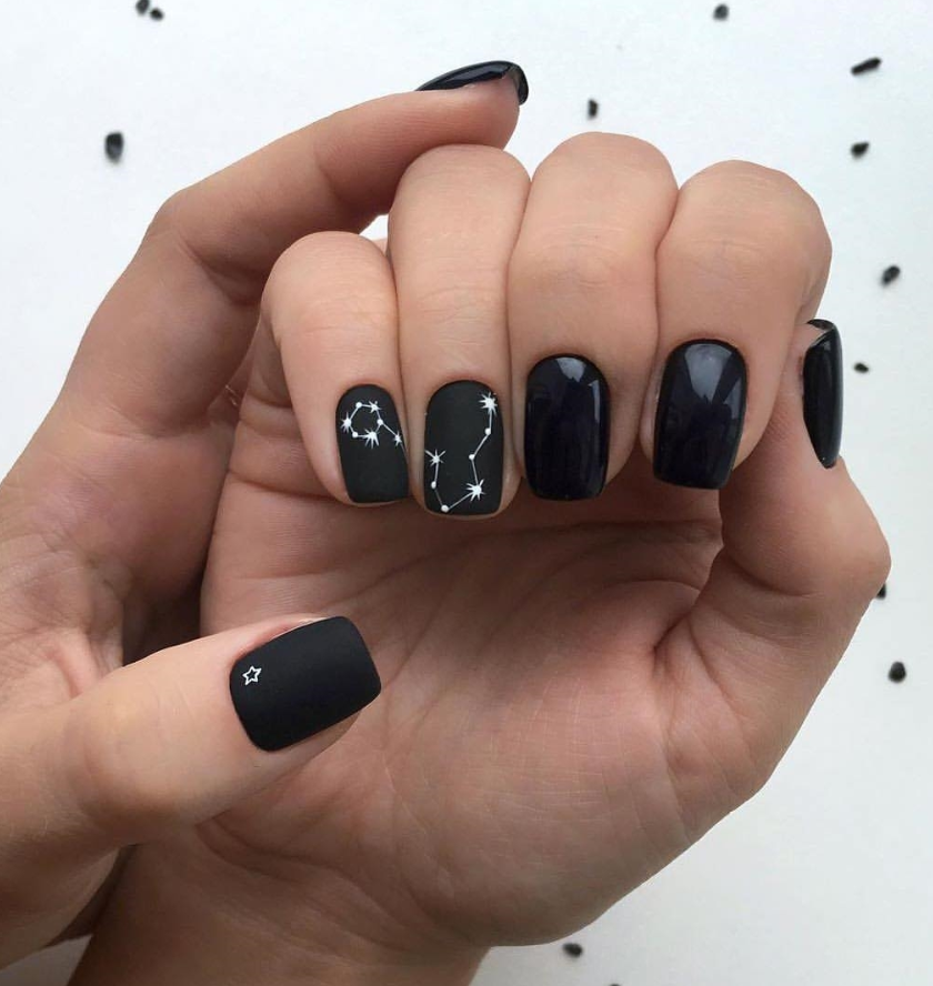 33 Natural Acrylic Black Almond Square Nail Designs For Short Nails Square Nail Designs Black Nail Designs Square Nails