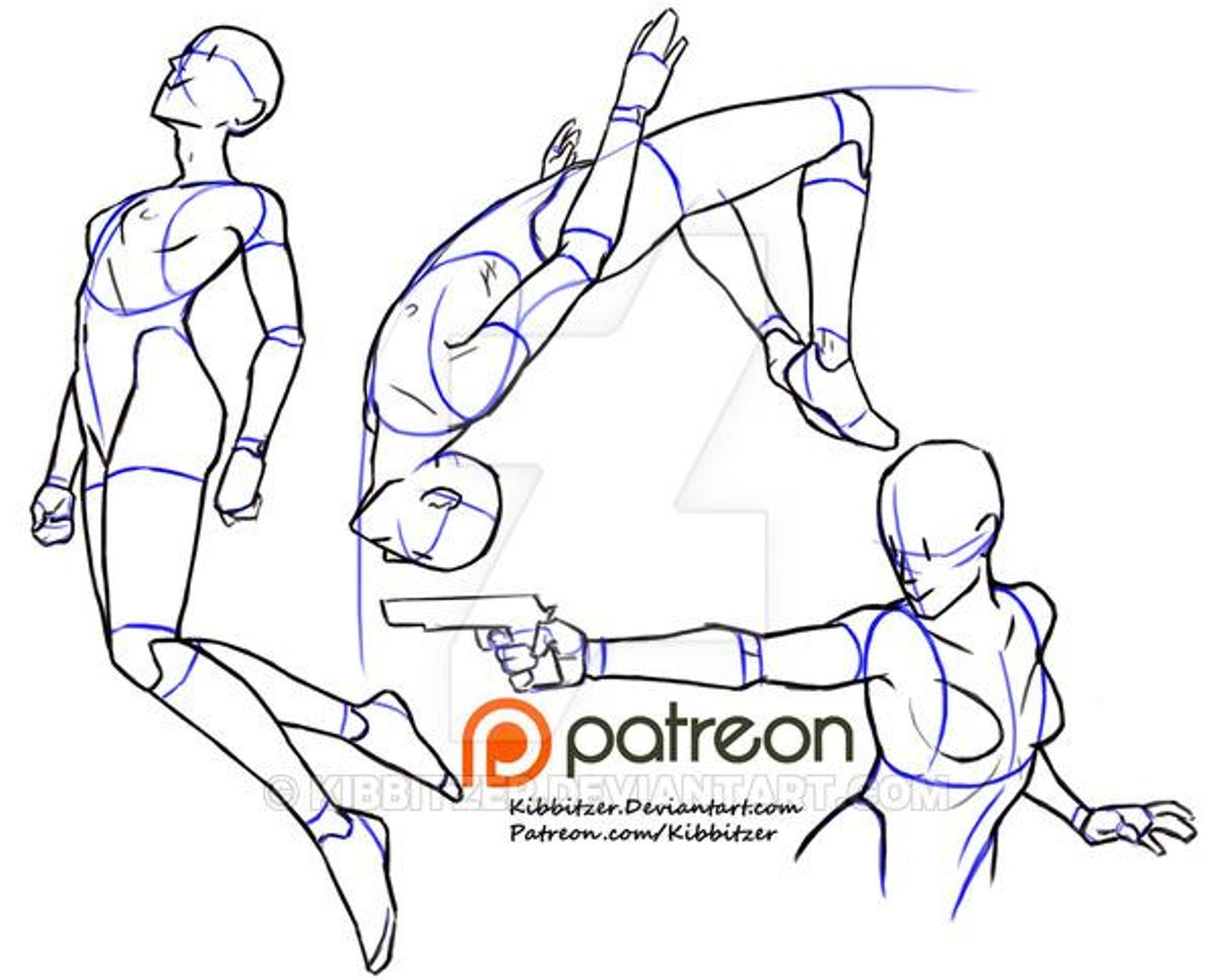 Action reference sheet 2 preview Art reference poses