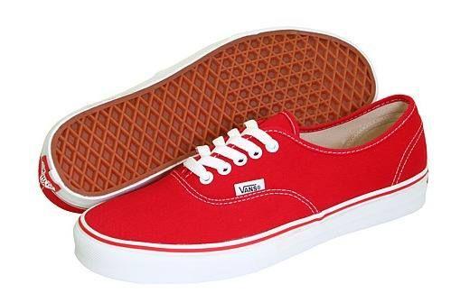 2zapatos vans rojos