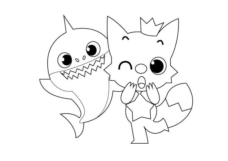 Baby Shark Coloring Page Printable In 2020 Shark Coloring Pages Bear Coloring Pages Coloring Pages