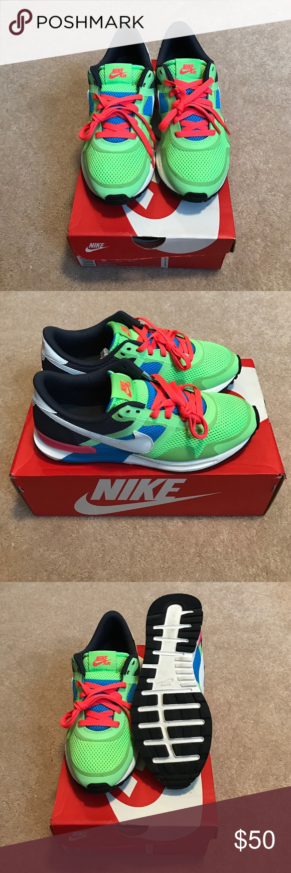 Shop Men's Nike size 8 Sneakers at a discounted price at Poshmark.  Description: Nike Air Pegasus Anniversary addition reflective size 8 worn  in Euc with box ...