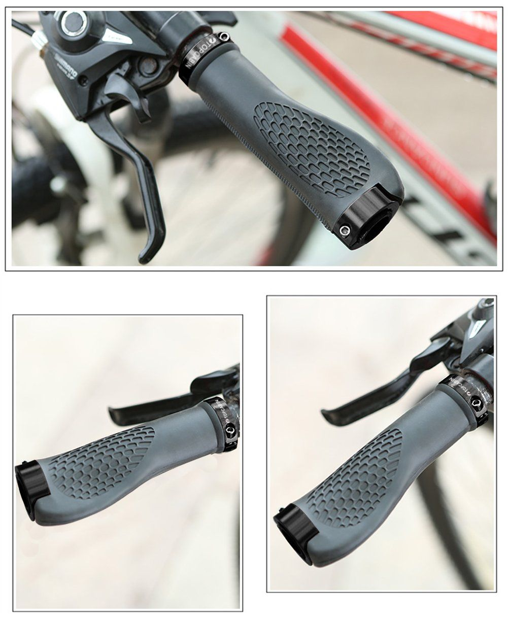 Topcabin Ergonomic Design Bicycle Handlebar Grips Widen Holding