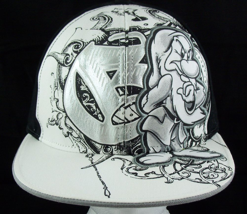 4af8f3d8a85 Disney Grumpy Fitted Ball Hat Cap Seven Dwarfs L XL  Disney  BaseballHat   Grumpy