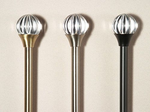 Curtains Ideas curtain rod glass finials : Glass Curtain Rod Finials - Rooms