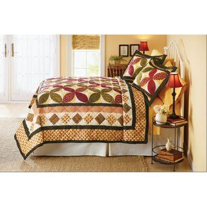 Better Homes And Gardens Ivy Trellis Printed Quilt Home Printed Quilt Better Homes And Gardens