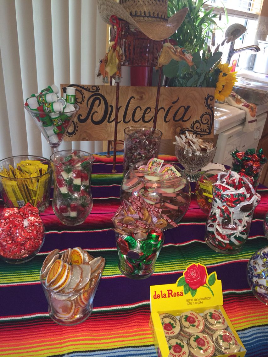 Mexican Candy Bar Mexican Birthday Parties Mexican Party Theme Mexican Party Decorations