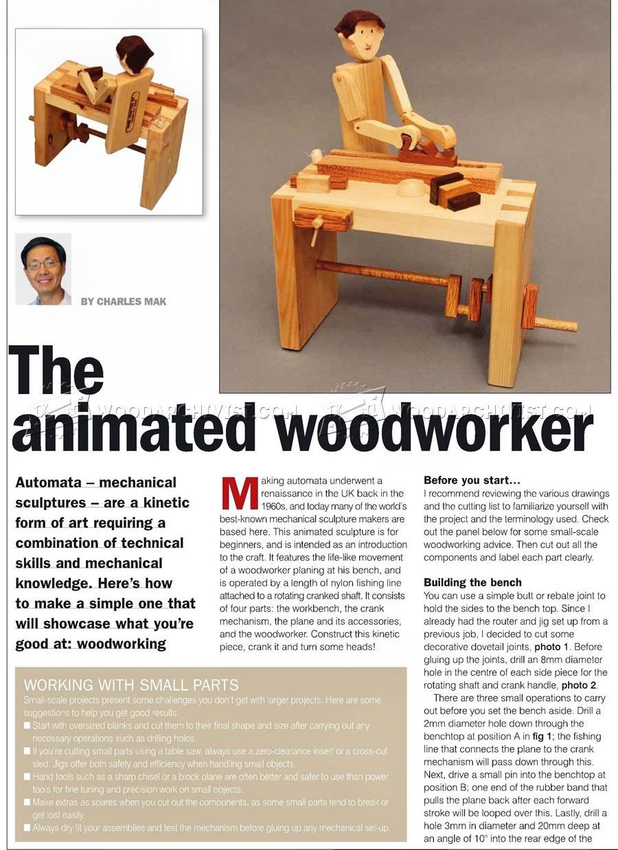 2438 woodworker - automata toy plans - wooden toy plans