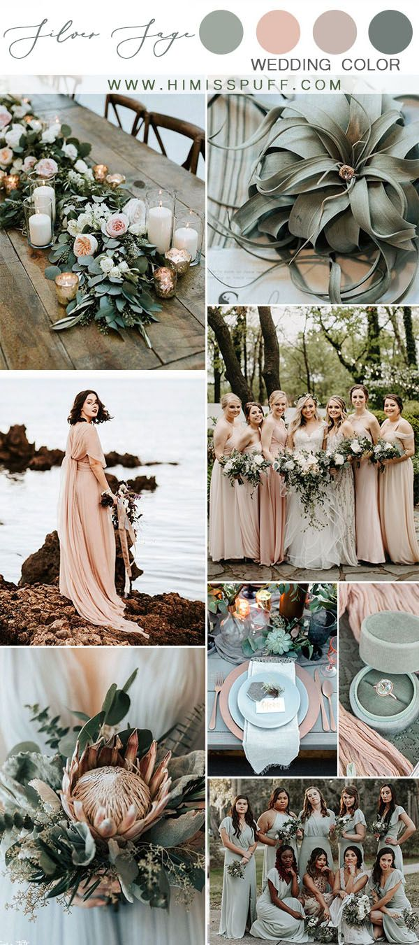 silver sage wedding color palette dusty rose and dusty sage wedding color ideas