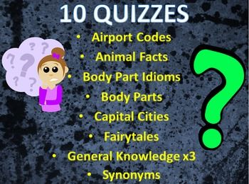 If your students are getting a little restless or bored, these quizzes are a…