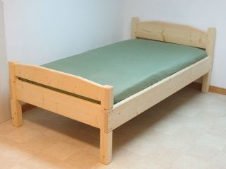 Bed Plans Easy To Build Require Minimal Equipment And Use Regular 2x4 Construction Lumber They Correspond To Diy Childrens Beds Diy Twin Bed Twin Bed Frame