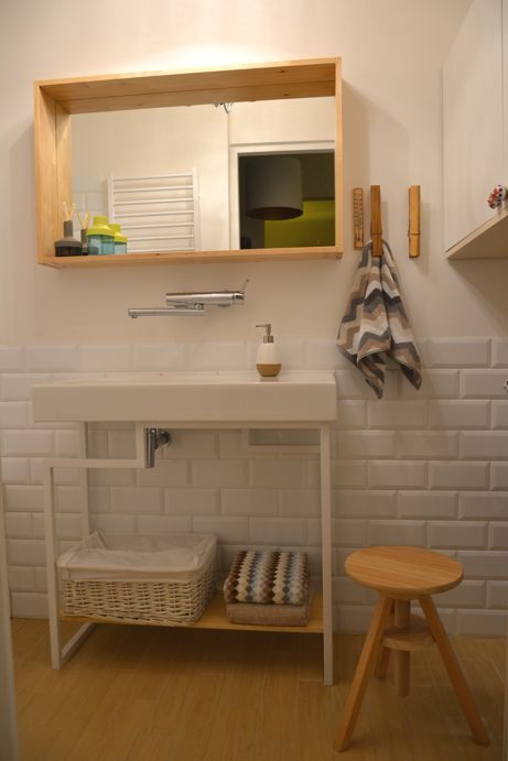 Bathroom vives mugat blanco tiles mirror molger and chair ikea my beloved home m j - Ikea bathroom tiles ...