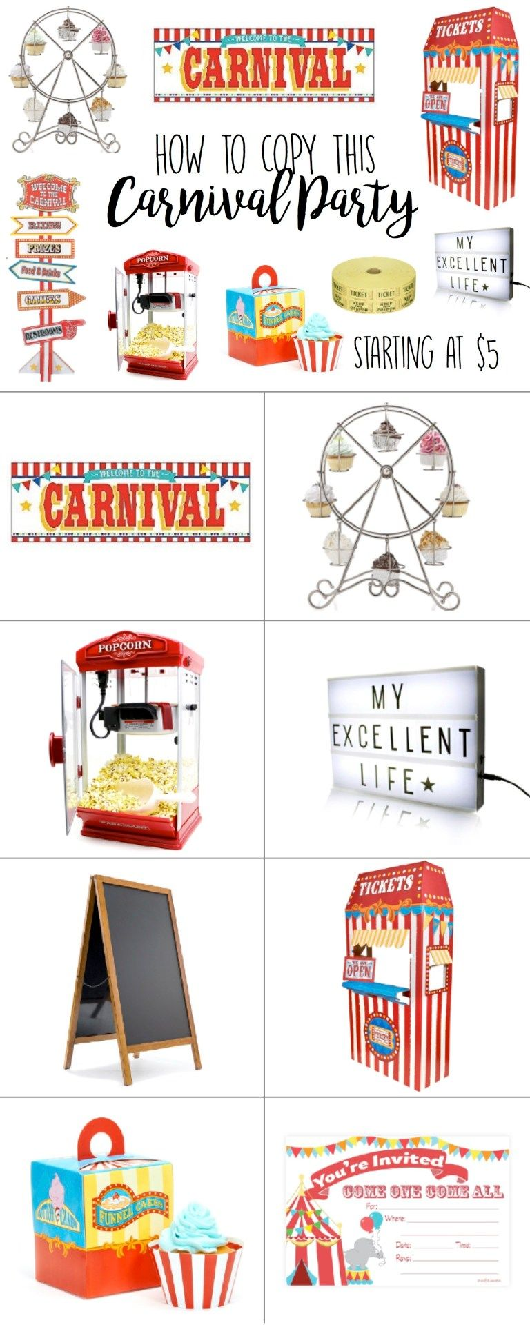 Circus Carnival Birthday Party Theme Ideas – Big Top Party Ideas