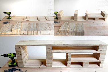 un diy pour fabriquer un meuble t l hyper original id es pinterest fabriquer meuble tv. Black Bedroom Furniture Sets. Home Design Ideas