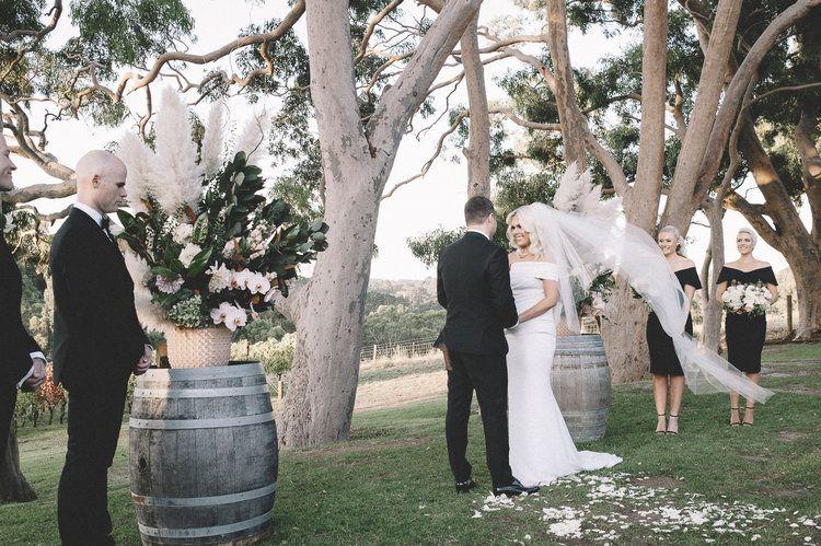 Polperro Winery Wedding Red Hill Mornington Peninsula Bohemian