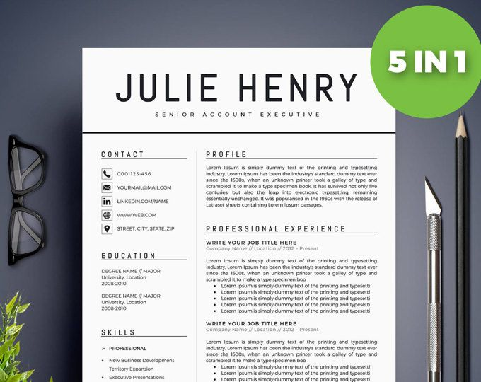 Microsoft Word Template Free Download Modern Resume Templates