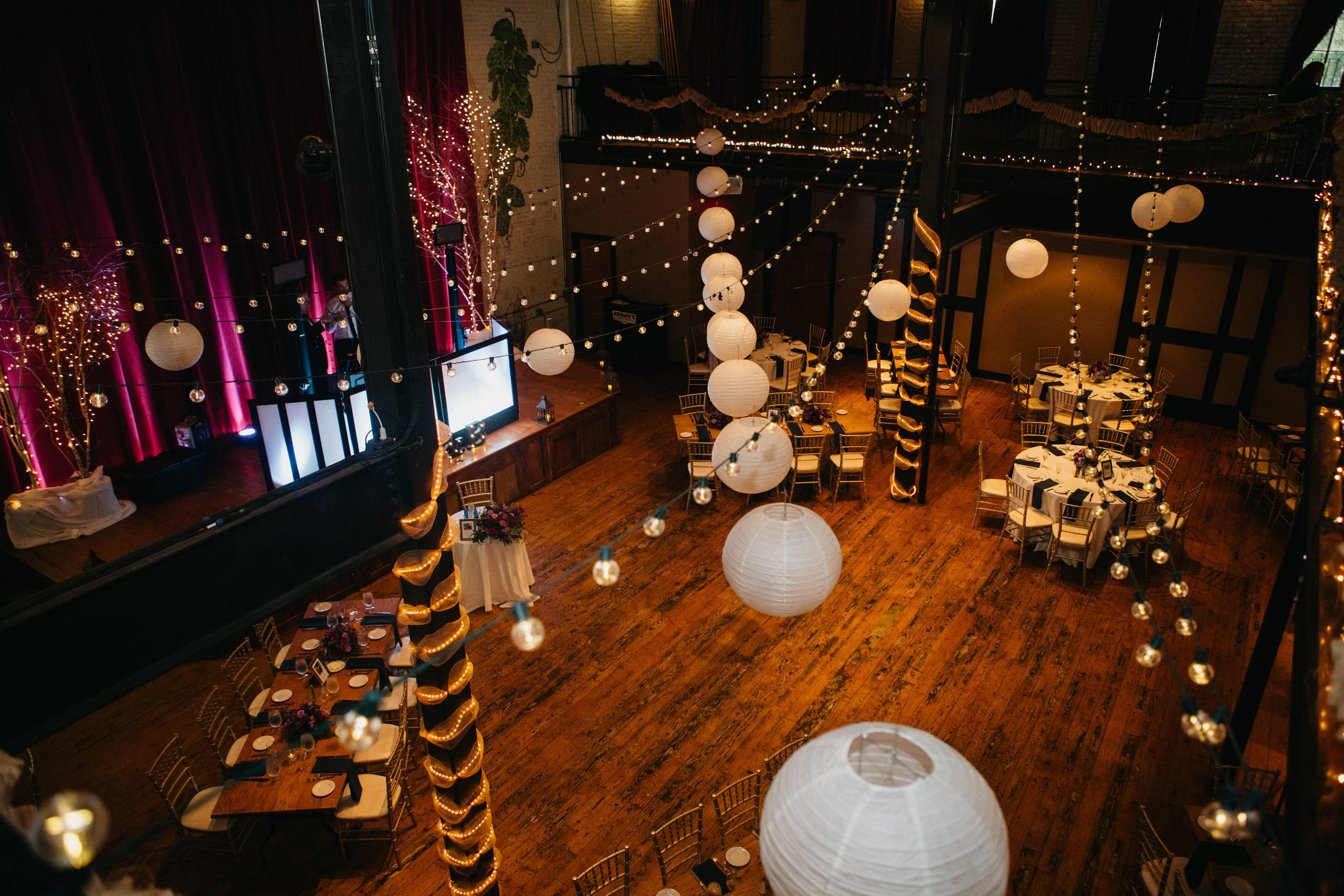 Brown S Brewery Revolution Hall Troy Ny Purple And Navy Wedding