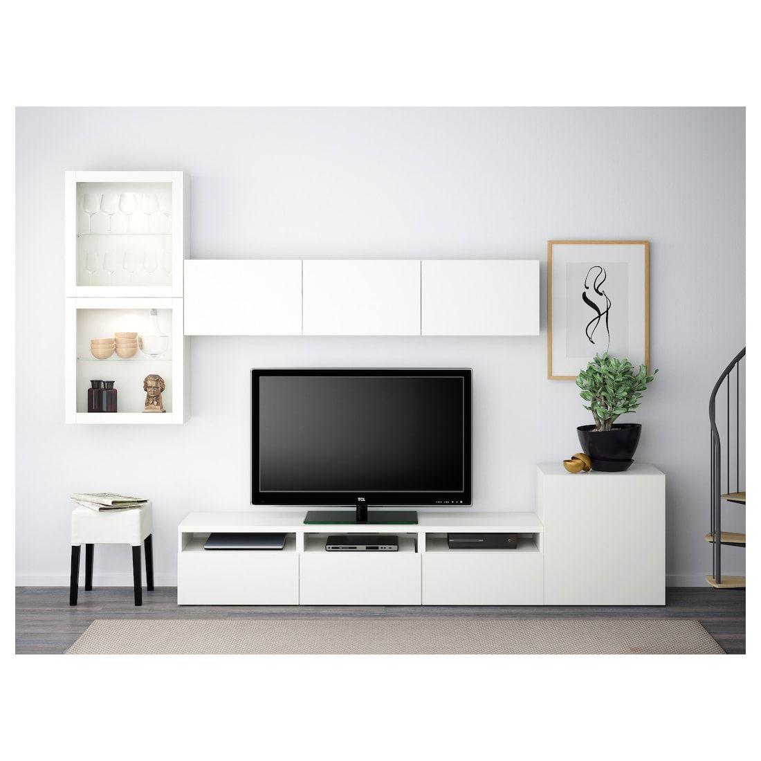 Bestå Tv Storage Combination Glass Doors Lappviken Sindvik White Clear Glass Ikea Ikea Living Room Living Room Tv Wall Living Room Tv