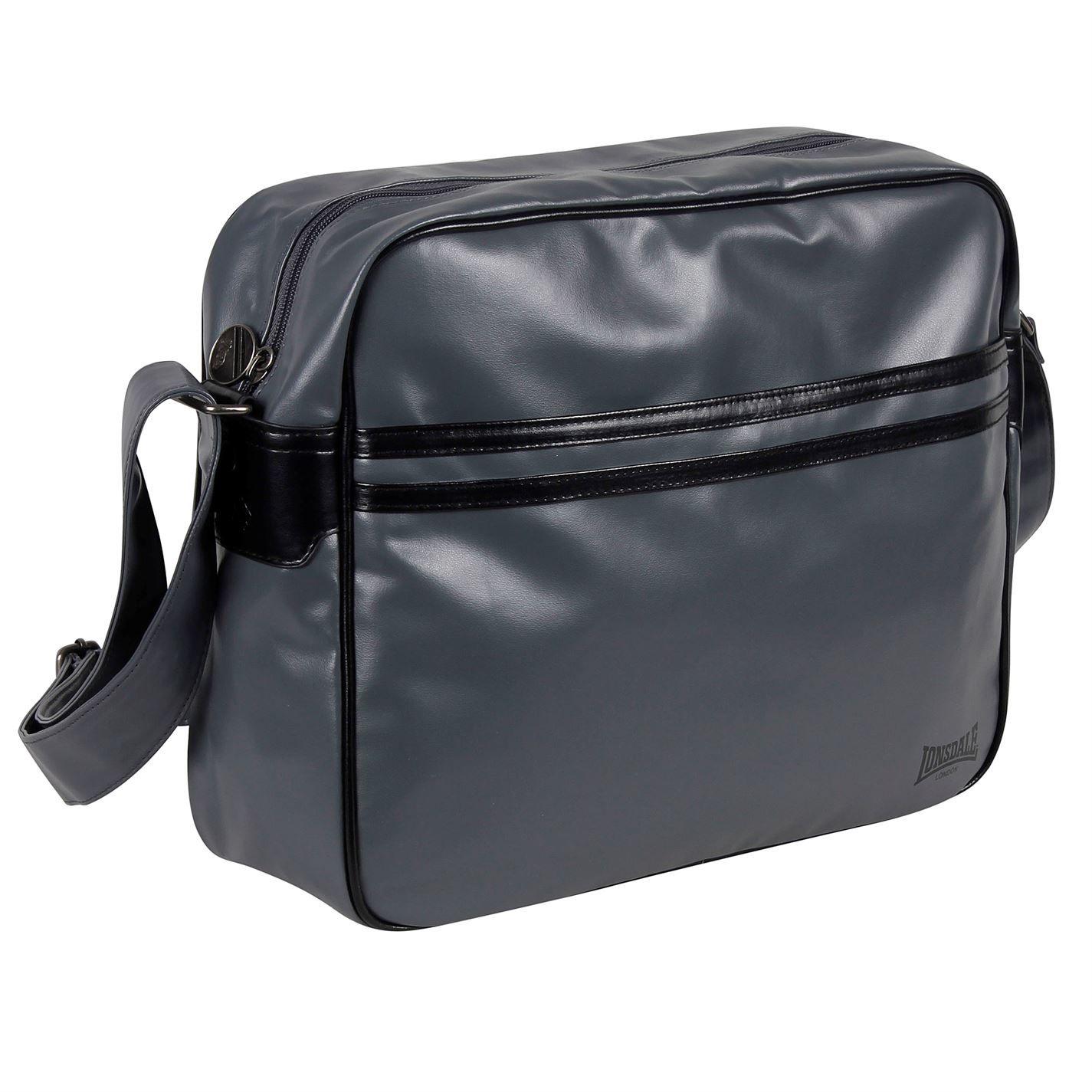 Lonsdale 2 Stripe Flight Bag Messenger Bags