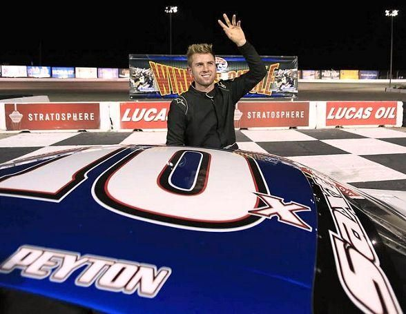 Saxton wins 50-lap NASCAR Super Late Models feature at The Bullring at Las Vegas Motor Speedway