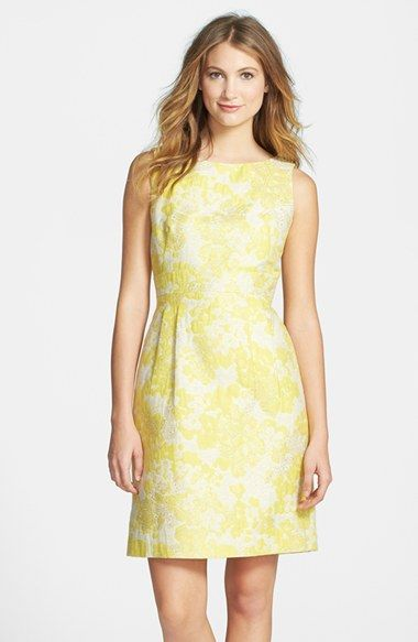 Tahari Metallic Floral Brocade Sheath Dress available at #Nordstrom