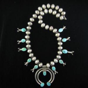 Vintage Squash Beaded Necklace