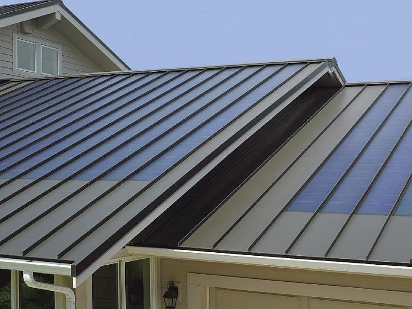 tin roof - Google Search | Metal roof, Solar panels, Standing seam metal  roof