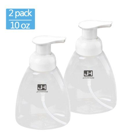 Foaming Soap Dispenser Pump Empty Bottles Hand Soap Liquid Containers - 300ml (10 oz) Set of 2 Foaming Soap Refill Perfect for Castile Liquid Soap By JamHoo (2), 2016 Amazon Hot New Releases Bath  #Kitchen