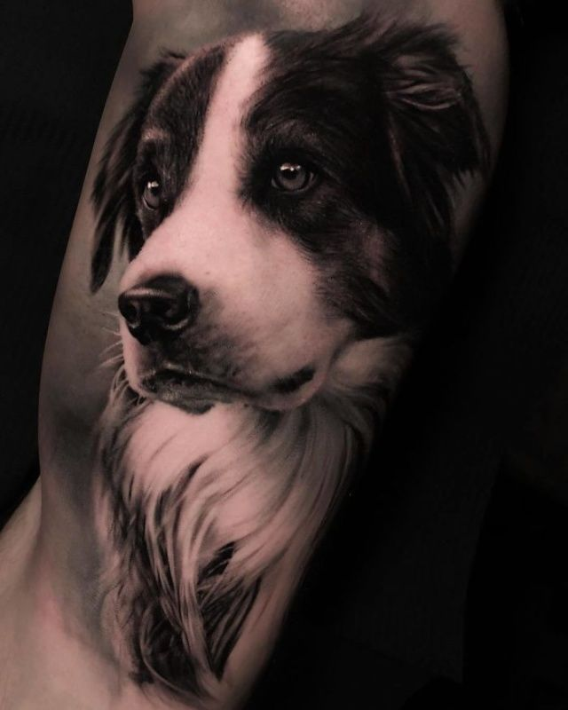 35 Tattoos That Are Actually Amazing Dog Portrait Tattoo Dog Tattoos Dog Memorial Tattoos